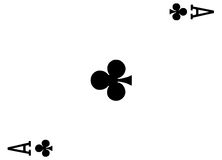 Ace of clubs. Playing card royalty free stock images