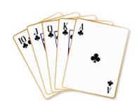 Ace Clubs Flush Royalty Free Stock Photos