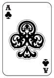 Ace of Clubs. Playing card Royalty Free Stock Photo