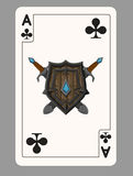 The ace of clubs playing card Royalty Free Stock Photo