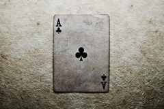 Ace of clubs Royalty Free Stock Photo