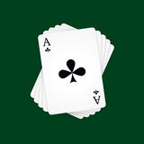 Ace of Clubs Stock Photography