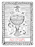 Ace of cups. The tarot card. Stock Photo