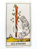 Ace da movimentação inspirada criativa da iniciativa do cartão de tarô das varinhas, ambição, aventura, Excitemen ilustração royalty free