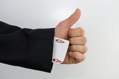 Ace-Daumen oben Lizenzfreie Stockfotografie
