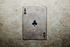 Ace de clubs Foto de archivo libre de regalías