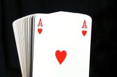 Ace de corações Imagem de Stock Royalty Free