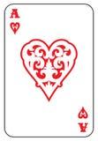 Ace de corações isolados no branco Fotos de Stock