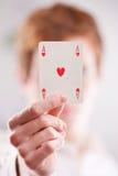 Ace de corazones Imagen de archivo libre de regalías