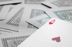 Ace de corazones Fotografía de archivo libre de regalías