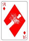 Ace de diamantes Fotografía de archivo