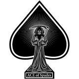 Ace de espadas con el cráneo Fotos de archivo libres de regalías