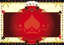 Ace de juego de póker del fondo horizontal de las espadas Imagen de archivo