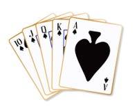 Ace-de Spades spoelen stock illustratie