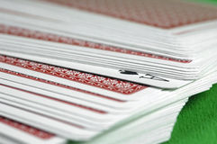 Ace In The Deck. Ace of spades in a deck of cards royalty free stock photography