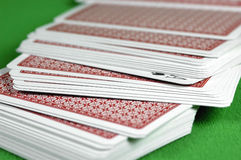 Ace In The Deck. Ace of spades in a deck of cards Stock Image