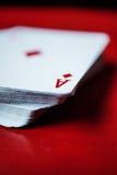 Ace della carta dei diamanti Immagine Stock