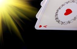Ace in der Pokerhand Stockbilder