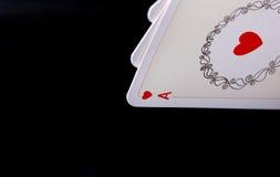 Ace in der Pokerhand Stockfotografie