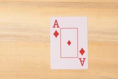 Ace der Spielkarte Stockfoto
