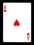Ace des coeurs jouant la carte, Photographie stock libre de droits