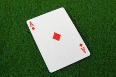 Ace of diamonds. A ace of diamonds card Stock Photos
