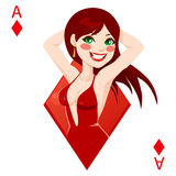 Ace Of Diamonds Stock Photography