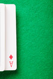 Ace of diamonds in card deck Stock Photography