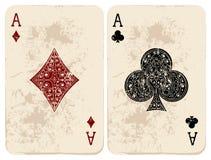Ace of Diamonds & Clubs Stock Photos