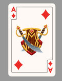 Ace of diamonds playing card Stock Images