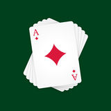 Ace of Diamonds Royalty Free Stock Photos