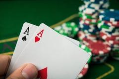 ace dos en juego de póker Imagen de archivo libre de regalías