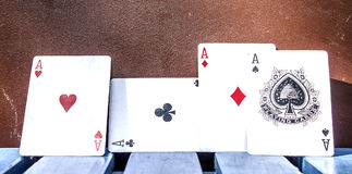 Ace. Four aces of poker cards Stock Images