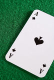Ace on Green Royalty Free Stock Photo
