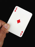 Ace in hand Royalty Free Stock Photo