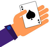 Ace in a hand Royalty Free Stock Photography