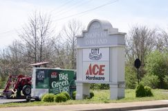 Ace Hardware Store, Oakland TN. Ace Hardware sells home improvement, lawn mowers, garden equipment, sod and other items for enhancing property Royalty Free Stock Photo