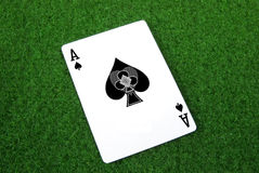 Ace of hearts. A ace of spades card Royalty Free Stock Image