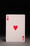 Ace of hearts. On black background Stock Image