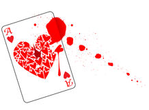 Ace of Hearts With Blood Royalty Free Stock Photos