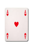 Ace of Hearts with clipping Stock Photos