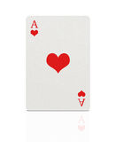 Ace of hearts with clipping path Stock Photography