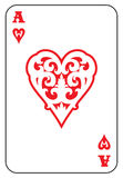Ace Of Hearts isolated on white Stock Photos