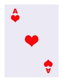 Ace of Hearts playing card Stock Photography