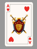 Ace of hearts playing card Royalty Free Stock Photography