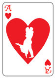 Ace of Hearts Royalty Free Stock Photos