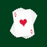 Ace of Hearts Stock Photography