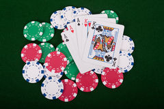 Ace High Full House Royalty Free Stock Image