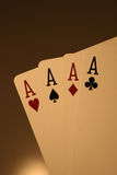 Ace High Hand Royalty Free Stock Images