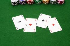 Ace-kaart Royalty-vrije Stock Fotografie